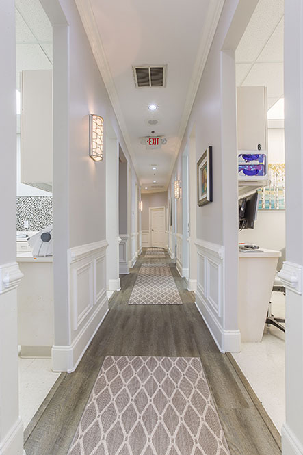 Hallway atReich Dental Center – Roswell in Roswell, GA.
